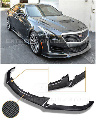 IMPERFECT For 16-Up Cadillac CTS-V CARBON FIBER Package Front Bumper Splitter