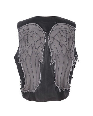 The Walking Dead Daryl Dixon Faux Leather Angel Wings Vest Halloween Costume