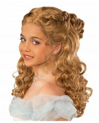 Blonde geflochtene Mädchen Perücke Cinderella für Prinzessin Kostüm Kindergröße