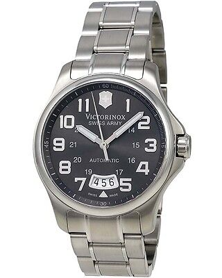 VICTORINOX SWISS ARMY - Army Officer Grey Dial Automatic Men's Watch 241373