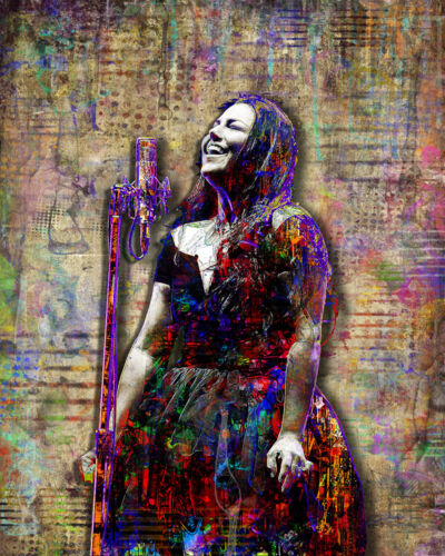 Amy Lee of Evanescence Poster Evanescence Tribute Art 8x10in Free Shipping US
