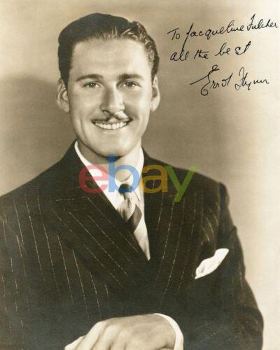 Errol Flynn Signed 8x10 Autographed Photo reprint