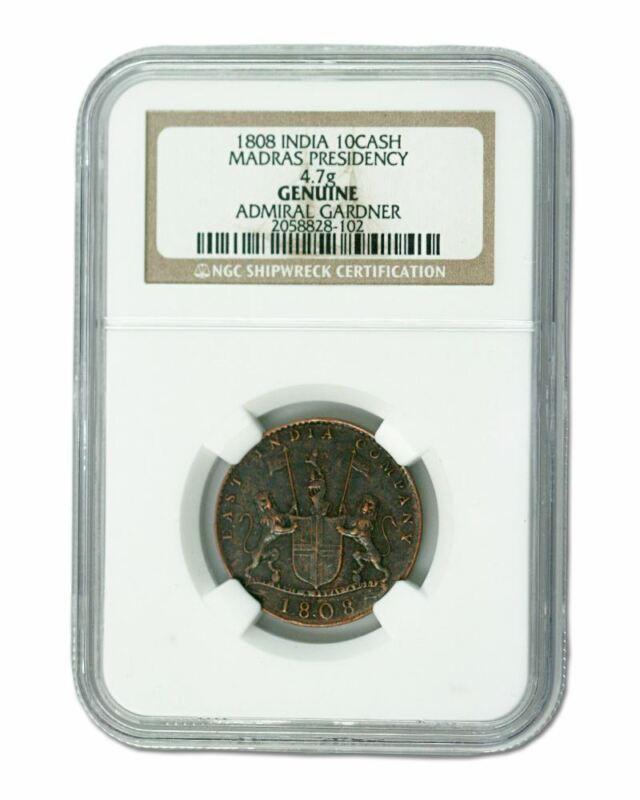 Admiral Gardner (1808) Shipwreck Treasure 10 Cash NGC (High grade)