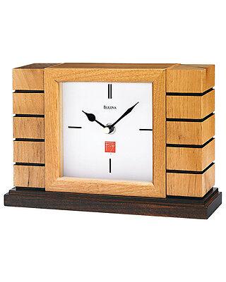 Frank Lloyd Wright Usonian II Mantel Clock by Bulova