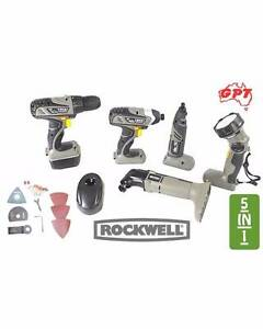 ROCKWELL 5 IN 1 COMBO ROTARY DRILL KIT | 18V LITHIUMTECH | NEW Jacana Hume Area Preview