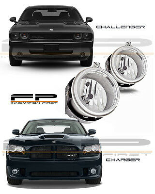 2006-2009 Dodge Charger 2008-2010 Challenger Replacement Fog Lights Clear PAIR