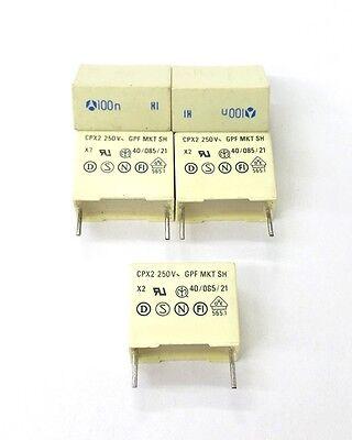 Lot Of 5 New 0.1uf 100nf 250v Mylar Film Capacitors Cpx2 Gpf Sh