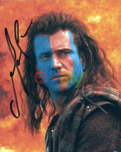 Mel Gibson Braveheart Autographed Signed 8x10 Photo reprint