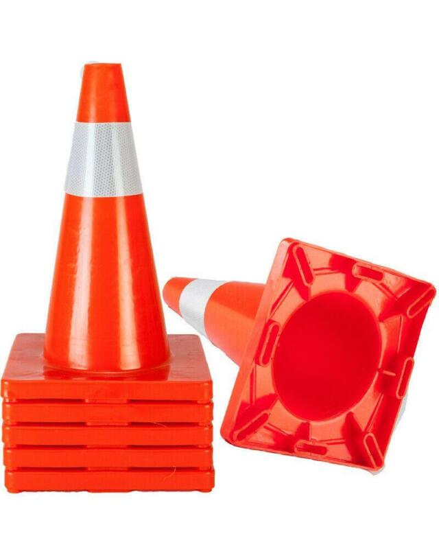 "5PCS 18"" Orange Safety Traffic Cones Trucks and Road Safe Cone"