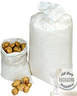 25 LARGE STRONG WOVEN POLYPROPYLENE PLASTIC BAGS SACKS SIZE 22 X 36