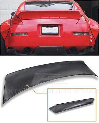 For 03-08 Nissan 350Z | Bunny Style Primer Black Ducktail Rear Trunk Lid Spoiler - Bunny Rocket