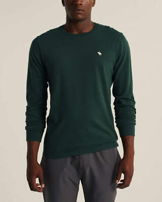 Mens Abercrombie & Fitch Soft Long sleeve Top In green top S
