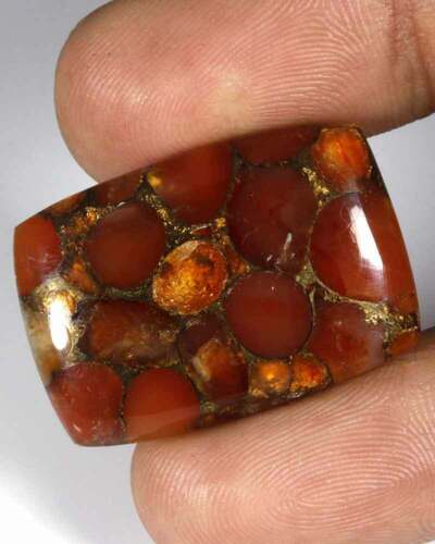 23.65 Cts Natural Copper Carnelion Cabochon Loose Gemstone Stone