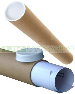 5 SMALL A3 / A4 SIZE POSTAL TUBES + CAPS 330mm LONG x 45mm MAILING POSTER - NEW