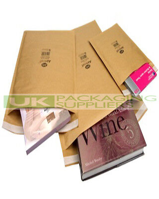10 LARGE JIFFY ENVELOPES J/7 SIZE 340 x 445mm GOLD BUBBLE PADDED BAGS - NEW