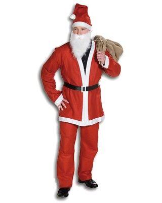 Costume da Babbo Natale per uomo con accessori 5 pz taglia unica