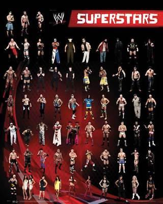 Wrestling - WWE - Superstars - Collage Miniposter Druck - Größe 40x50 cm