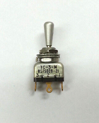 New Ms75028-21 Ah Tc-3-m Spdt On-off-on Mini Toggle Switch Mil-spec N.o.s.