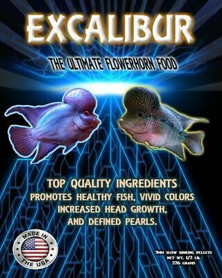 Excalibur original flowerhorn/srt staple food 1/2 lb 3mm floating pellets