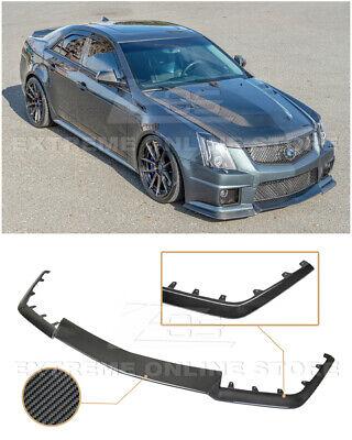 EOS For 09-15 Cadillac CTS-V | CARBON FIBER Package Front Bumper Lip Splitter
