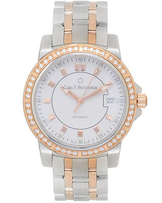 Carl F. Bucherer Patravi Steel/18K Rose Gold Diamond Autodate Men's Watch -