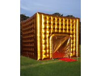 gold inflatable nightclub / bouncy castle / inflatable marquee