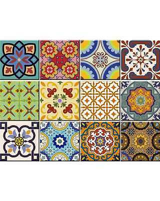 24 Set Mexican tile Stickers wall decals home decor Kitchen decals Bathroom C400 (400 Home Decor)