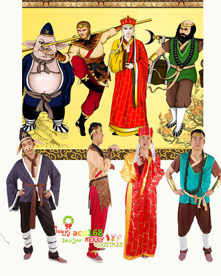 2019 The Journey To The West Mascot Costume Adult Cosplay Monkey King Dress Suit