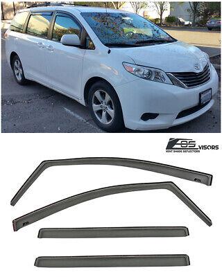 Steel Window Guards (EOS Visors For 11-Up Toyota Sienna JDM IN-CHANNEL Side Window Guard Deflectors )