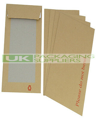 10 STRONG A4 / C4 SELF SEAL HARD BOARD BACKED ENVELOPES 229 x 324mm - NEW
