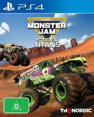 Monster Jam Steel Titans Sony PS4 Playstation 4 Monster Truck Stunt Racing Game (Monster Truck Ps4)