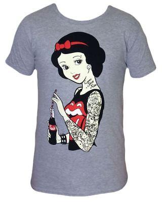 Punk Disney Rockabilly Snow White T Shirt tattoo gothic emo pinup scene  ()