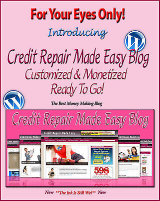 Credit Repair Blog Self Updating Website - Clickbank Amazon Adsense Pages More