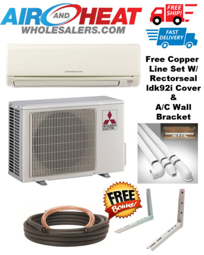Mitsubishi Mini Split Heat Pump Inverter 9000 Btu 18 Seer *free Kit Included**