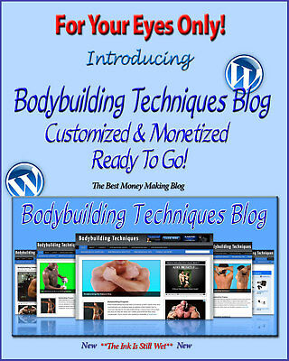 Bodybuilding Blog Self Updating Website - Clickbank Amazon Adsense Pages More