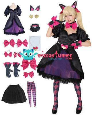 D.Va Black Cat Cosplay Costume Dress with Cat - Cats With Costumes