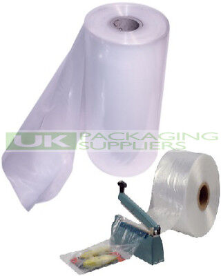 "2 ROLLS OF 12"" CLEAR LAYFLAT TUBING 250gauge POLYTHENE PLASTIC 336 METRES - NEW"
