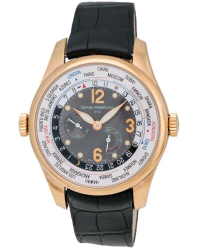 GIRARD-PERREGAUX WW.TC POWER RESERVE 18K ROSE GOLD MEN'S AUTOMATIC WATCH $32,100 - watch picture 1