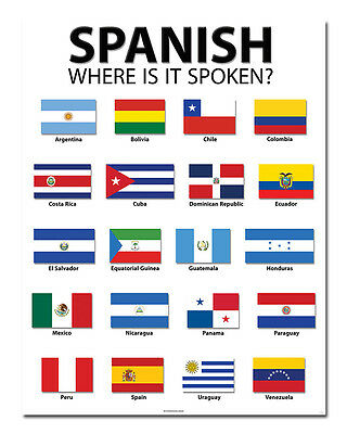 Spanish Speaking Countries - Classroom Poster