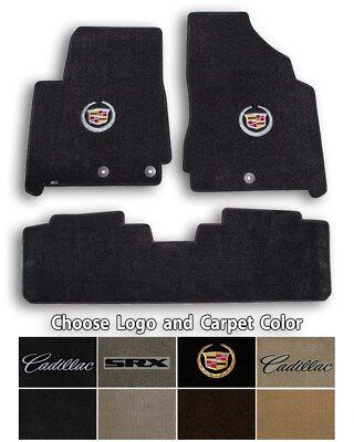 2010-2015 Cadillac SRX 3pc Velourtex Carpet Floor Mats - Choose Color & Logo
