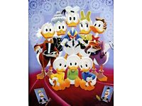 HD Canvas Painted Oil Painting Canvas Duck-family-portrait 12x15inch