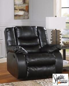 Brand NEW Black Bonded Leather Recliner! Call 709-489-1001!