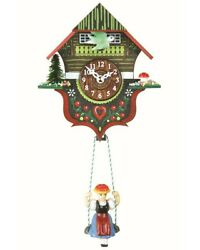 Kuckulino Black Forest Clock Black Forest House with quartz mov.. TU 2012 SQ NEW