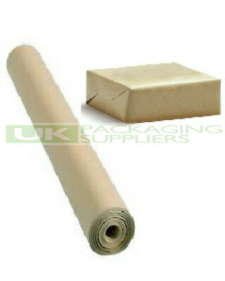 1 SMALL ROLL OF 88gsm PURE KRAFT BROWN WRAPPING PARCEL PAPER 500mm x 10 Metre