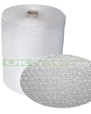 2 SMALL BUBBLE WRAP ROLLS 750mm WIDE x 100 METRES LONG PACKAGING CUSHIONING NEW
