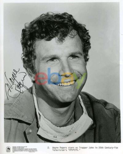 Wayne Rogers Signed 8x10 Mash Photo Autograph