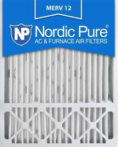 NEW Nordic Pure 20x25x5 Honeywell Replacement MERV 12 Furnace Air Filter Quantity 4 Condition: New