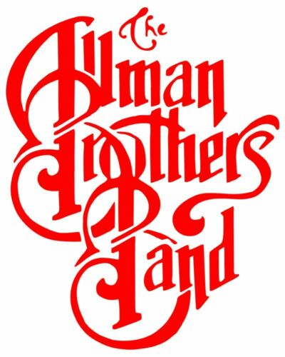 Vinyl Sticker - Red Allman Brothers Band Blues Rock Music RUB-ON Decal Gift 8657