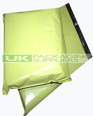 1000 LARGE YELLOW PLASTIC MAILING BAGS 14 x 20
