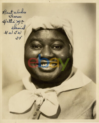 Hattie McDaniel Signed 8x10 Photo Gone With the Wind reprint